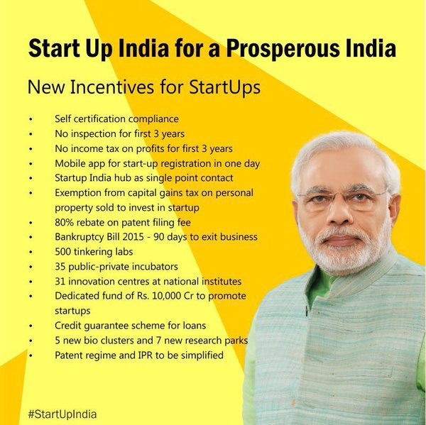start up india benefit